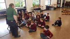 Woodturner, John Doran,visits school.