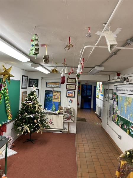 Pictures from our fantastic decorations from recycled materials competition